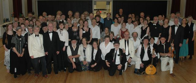Black and White Ball group photo